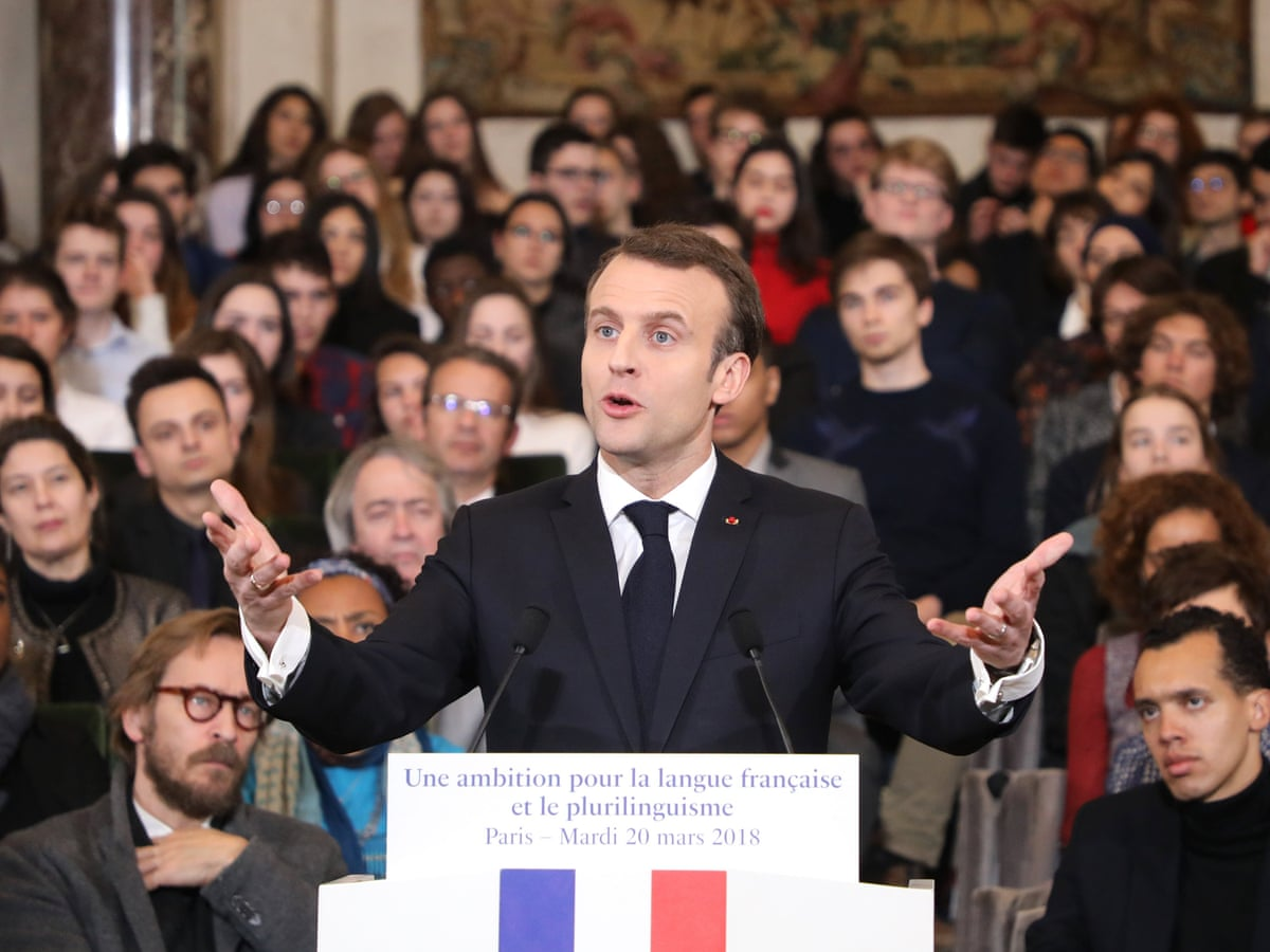 Macron Launches Drive To Boost French Language Around World France The Guardian