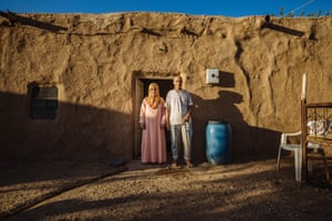 Ahmed and his wife, Ismah, live in a mud house straddling the border with Syria near their hometown of Kobane. The mud house has been their home since fleeing to Turkey two years ago, when they came across it. The mud helps the house remain cool during the summer months, and warm during the winter.