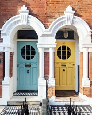 Tiles with style: Bella Foxwell's front doors.