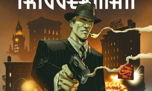 Smoking gun: a detail from the cover of the first Triggerman