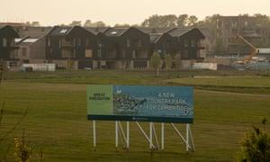 Land for a new housing development near Cambridge.