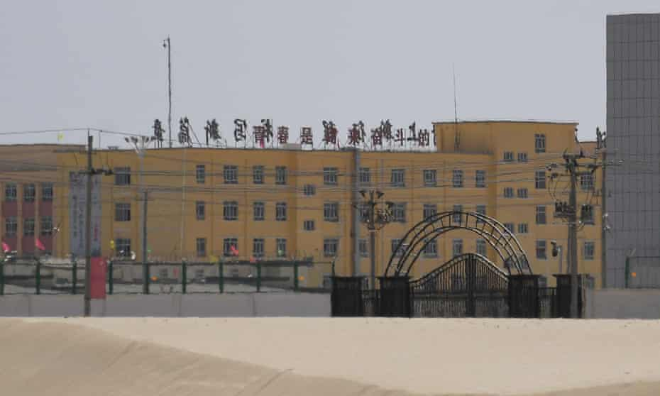 A facility believed to be a 're-education camp' where mostly Muslim ethnic minorities are detained in Xinjiang