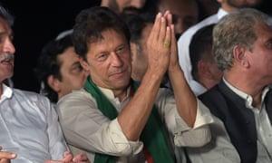 Pakistani opposition leader Imran Khan.