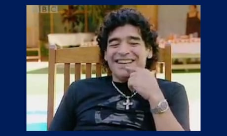 Diego Maradona recounts 'Hand of God' incident during 2006 BBC interview –video