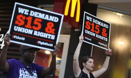 Pro-union groups say some federal government employees are being kept on poverty wages.