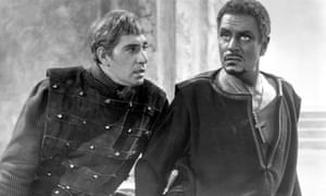 Frank Finlay as Iago and Laurence Olivier in the film based on the National Theatre's production of Othello, 1965.