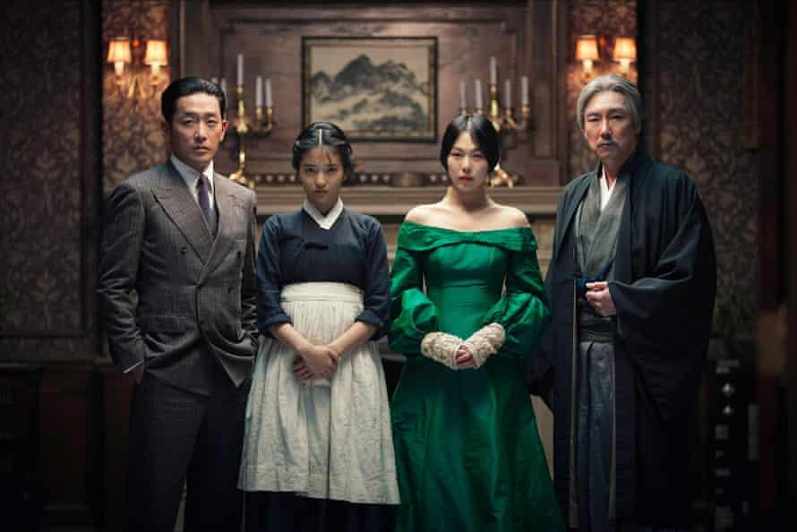 'Lavishly sinister': Ha Jung-woo, Kim Tae-ri, Kim Min-hee and Jo Jin-woong in The Handmaiden.