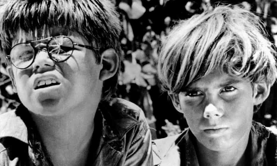 Hugh Edwards and James Aubrey in the 1963 film version of William Golding's Lord of the Flies.