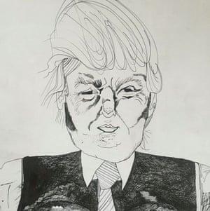 Drawing of Donald Trump by Alia Shawkat