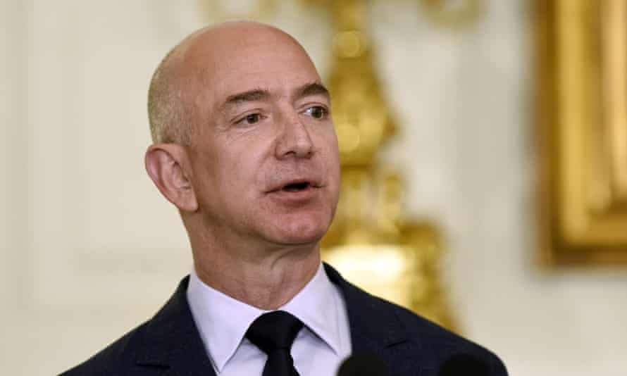 Amazon CEO Jeff Bezos, the world's richest man. The companies did not say whether the project would expand beyond Amazon, Berkshire or JP Morgan.