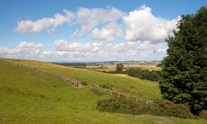 Towards Doddington from the Cheviot Hills near Wooler, Northumberland.