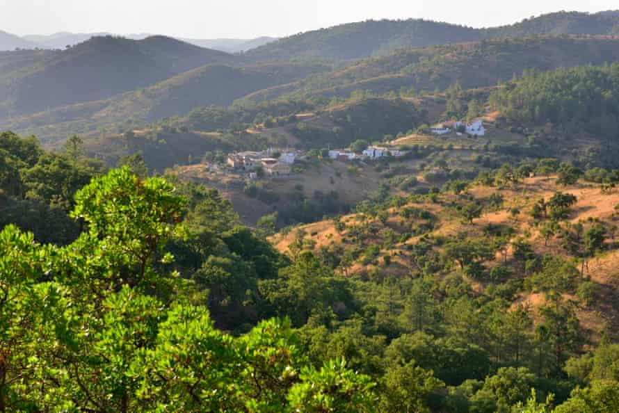 Landscape and hills near Barranco do Velho, Portugal