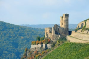Ruined castle in the Rhineland.