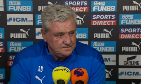 'Absolutely vile': Newcastle's Steve Bruce reveals he has received death threats online – video