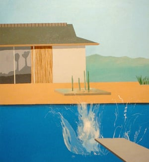 David hockney at 31 exhibition review archive 22 feb for Pool design 974