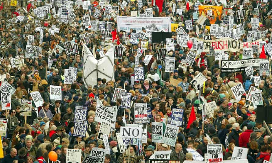 Anti war protest, London 2003