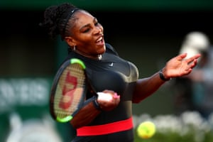 A ferocious forehand from Serena Williams.