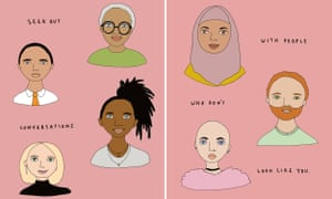 illustrations of diverse peoples