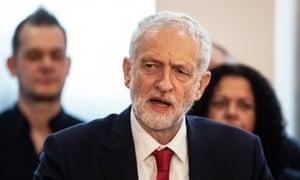 Jeremy Corbyn delivering a speech on Brexit in Wakefield last week.