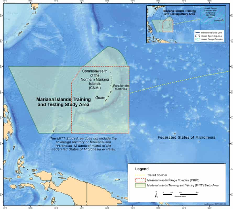 Map of the Mariana Islands Training and Testing Study Area