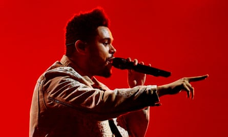 The Weeknd performing in Manchester in March 2017.