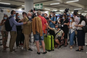 Passenger talks to press