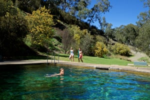 Thermal pool fed by natural hot springs near Yarrangobilly Caves in Kosciuszko National Park.