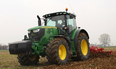 A John Deere 6175R tractor.