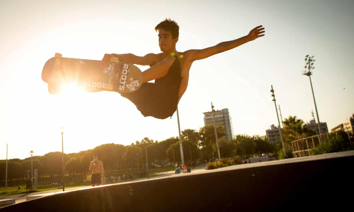 A skateboarder in Barcelona last month. A trick is to be renamed after Chris Weddle, who invented the move. Photograph: Enric Fontcuberta/EPA