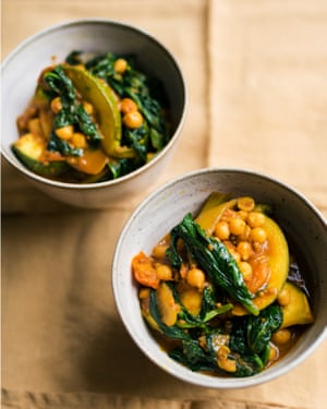 Gourd of honour: spiced courgettes.