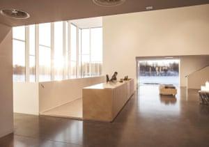 The interior of the Bildmuseet art museum