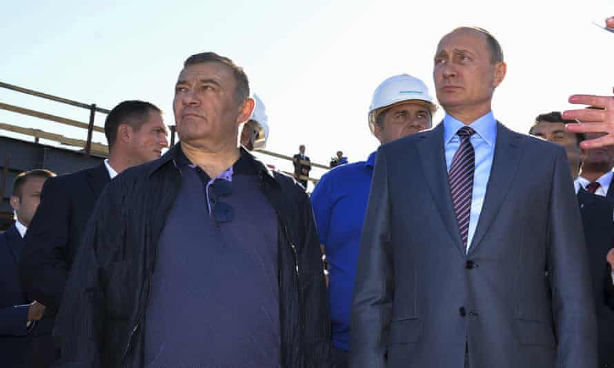 Vladimir Putin with businessman and judo sparring partner Arkady Rotenberg