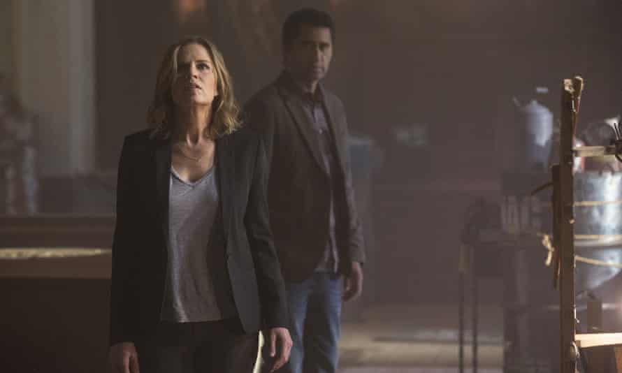Fear factor … Kim Dickens and Cliff Curtis in Fear the Walking Dead.