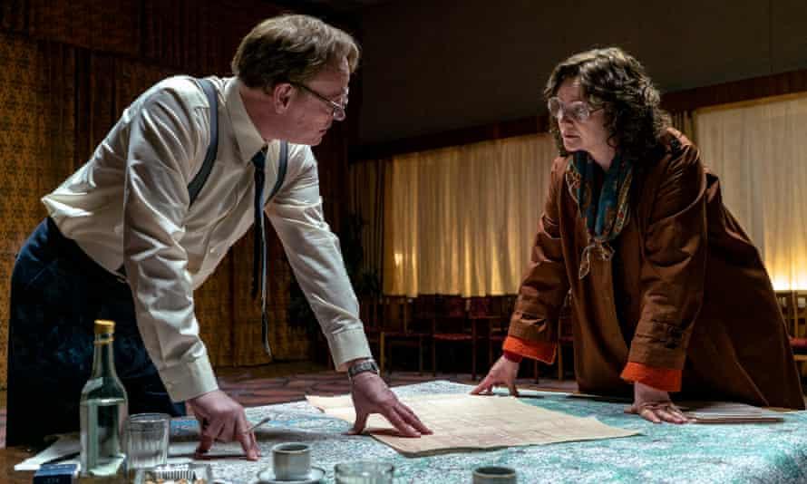 As Valery Legasov, with Emily Watson as Ulana Khomyuk, in Chernobyl.