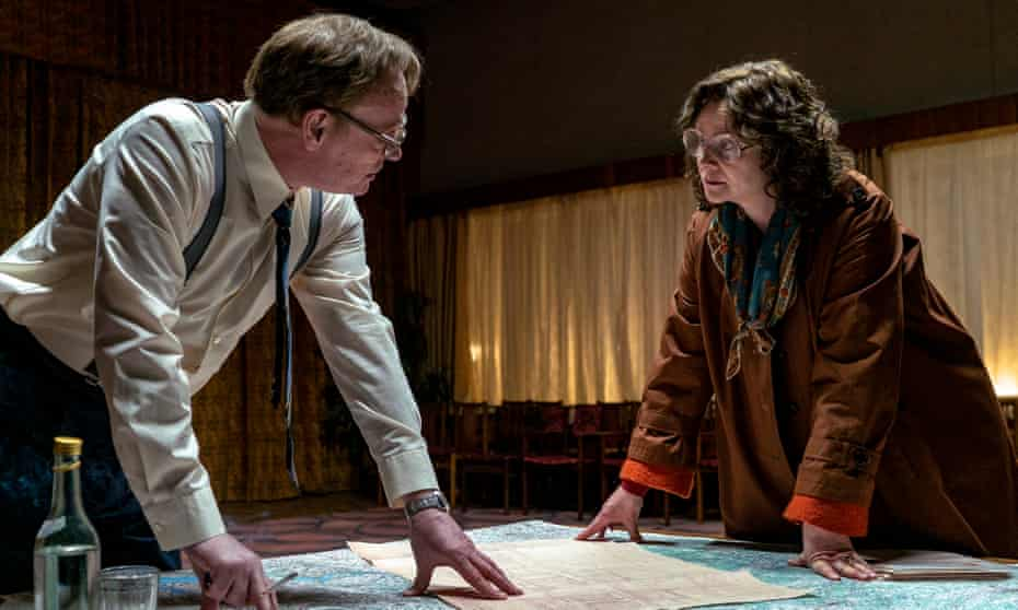 Explosive truths … Harris and Emily Watson in Chernobyl.