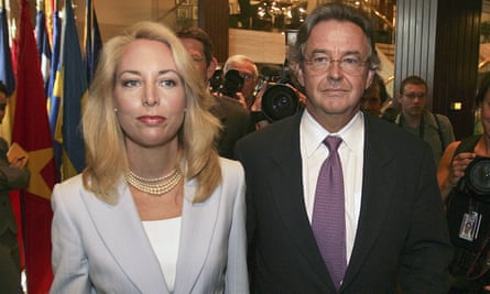 In a photo from 2006, former CIA officer Valerie Plame and her husband, former ambassador Joseph Wilson, arrive at the National Press Club in Washington.