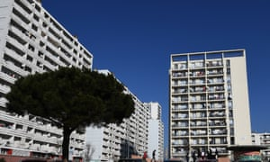 The Felix Pyat Bellevue council estate in the 3rd arrondissement of Marseille, the poorest district of mainland France.