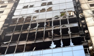 Two owners of the FR Tower in Dhaka, where 26 people were killed in a fire, have been arrested.