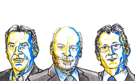 Jean Pierre Sauvage, Sir Fraser Stoddart and Bernard Feringa, winners of the chemistry Nobel Prize 2016.