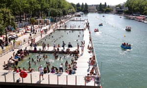 The temporary floating structure is part of the summer festival Paris Plages