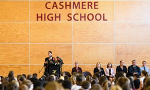 Earlier in the day, Ardern visited Cashmere high school, which lost two students in the shootings.