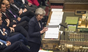 Theresa May during prime minister's questions on 9 January.