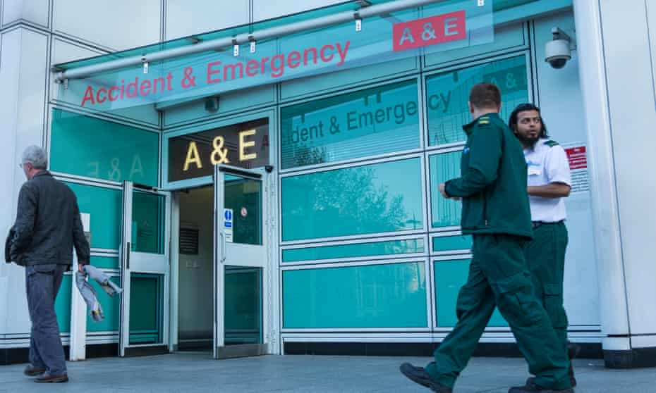 Entrance to A&E at University College Hospital, London