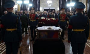 Memorial ceremony for the Russian ambassador to Turkey, Andrei Karlov