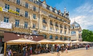 Place de la Comedie in Montpellier,