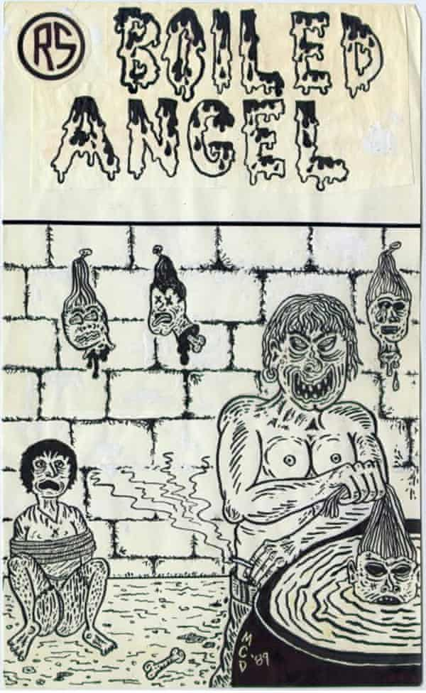 The cover of Mike Diana's Boiled Angel comic #1.