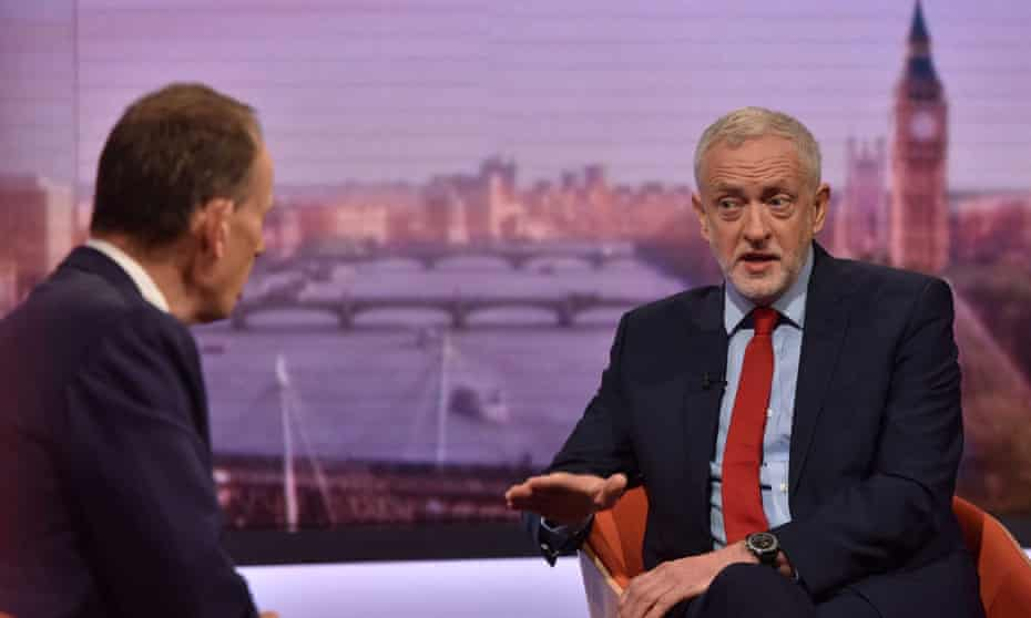 Jeremy Corbyn on the BBC's Andrew Marr Show.