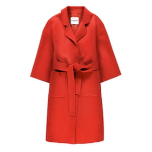 Scarlet belted coat Make a statement with block colour £470, essentiel-antwerp.com