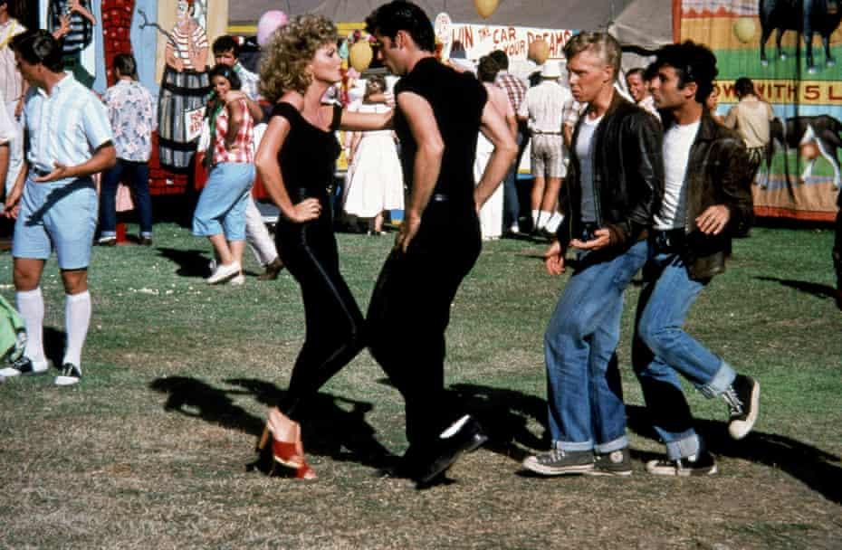 Newton-John with John Travolta in 1978's Grease.