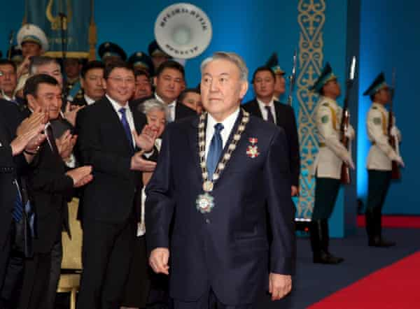 Kazakh President Nursultan Nazarbayev at his inauguration ceremony in Astana, in 2015.